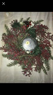 Christmas berry centerpiece candle holder pick up Derry