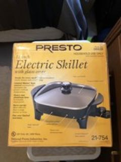 New and Unused Presto 11 Electric Skillet