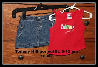 Tommy Hilfiger girls 6-12 mo outfit