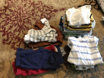 Mixed Lot Boy 0-3 month clothes