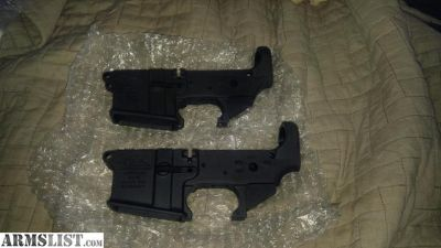 For Trade: Trade 2 new AR15 lowers for 1 AR10 lower