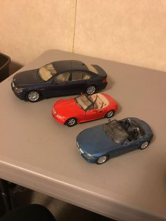 BMW scale cars. Great for play or collector.