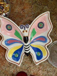 Large butterfly candy dish