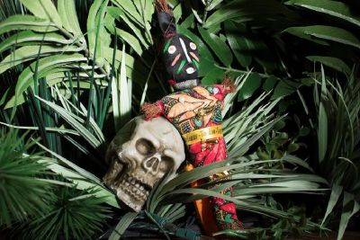 Voodoo Doll & (sm) Skull Set
