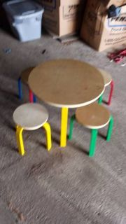Childrens colorful play table