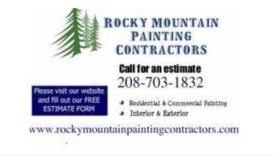 Rocky Mountain Painting —-> 208-703-1832