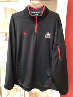 Beautiful men s black Adidas NIU Huskies athletic pullover in size XL