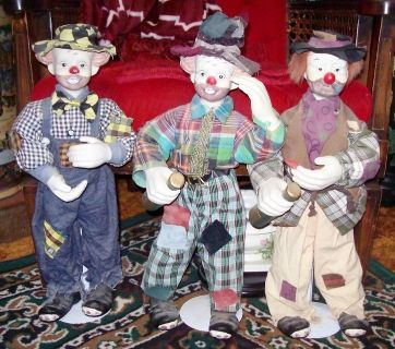 Three Gypsy Dolls with Stands