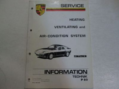 Buy 1980 Porsche 928 Heating Air Condition System Ventillating Factory OEM Book Used motorcycle in Sterling Heights, Michigan, United States, for US $67.95