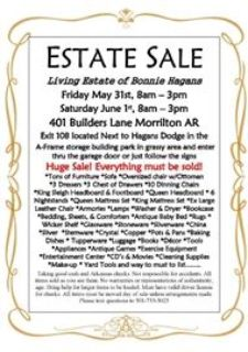 Bonnie Hagans' Living Estate Sale