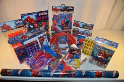 spider man birthday party package