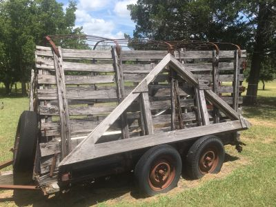 Very Old Cattle Trailer