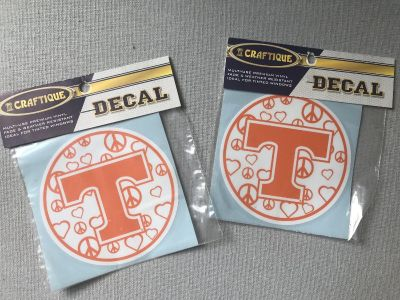Tennessee Vols Power T stickers