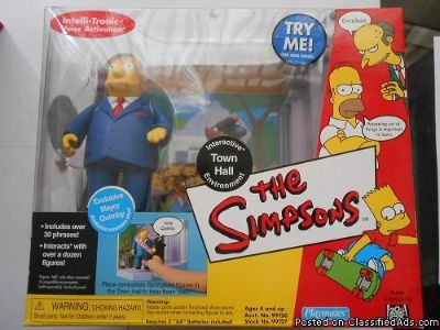 THE SIMPSONS INTERACTIVE ACTION FIGURE ENVIRONMENT MAYOR TOWN HALL