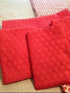 Coral Queen quilt and 3 Euro shams