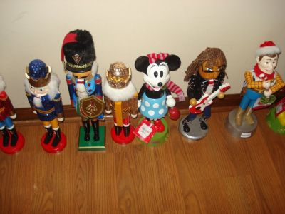 nutcrackers/dept. 56/blow molds - private collector's estate sale reduced 11/16 & 11/17 indoor sale
