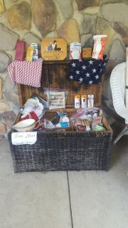Restock my black wicker basket with free gifts for all my pickup friends