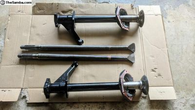 Type 3 axles and tubes - swing axle, Squareback
