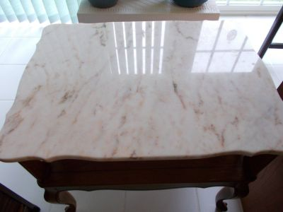 Vintage Small Marbletop Table