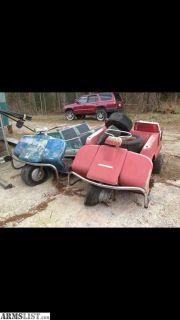 For Sale/Trade: 2 classic model 1967 custom Harley Davidson utility golf carts