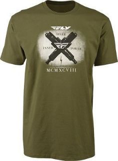 Find Fly Racing Spark Tee Shirt Military Green Size S-2X motorcycle in Hinckley, Ohio, United States, for US $19.85