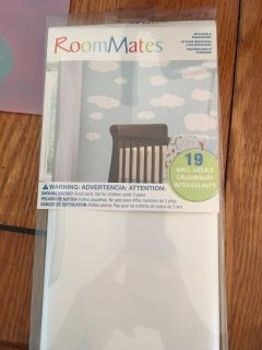NIB Wall decals- clouds, great for nursery