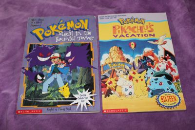 2 Pokemon Paperback Books: Night in the Haunted Tower and Pikachu's Vacation .50