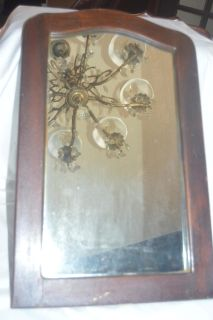 Old Small Wood Mirror