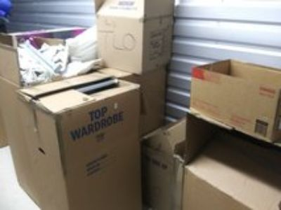 Boxes, empty, large and small