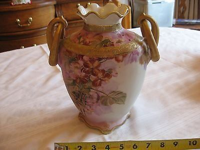 antique nippon morimura brothers vase 19th century nippon hand painted pink, lav
