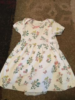 Carters 9m wht flower print dress w/onesie - ppu (near old chemstrand & 29) or PU @ the Marcus Pointe Thrift Store (on W st)