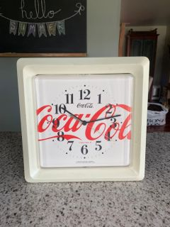 Battery operated Coca Cola plastic clock