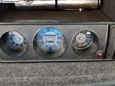 Early gauge cluster with trip and tach
