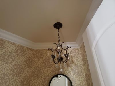 4 sconces, 1 small chandelier & 1 large chandelier