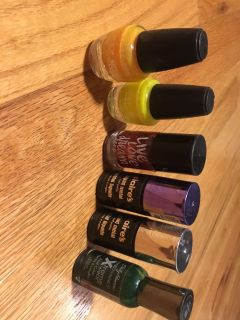 Lot of 6 nail polish bottles-all are mostly full