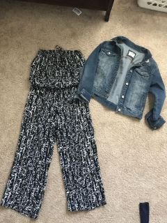 Romper and jean jacket
