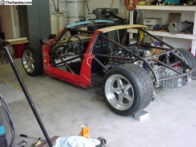 Porsche 914 mid engine tube frame 993 suspension