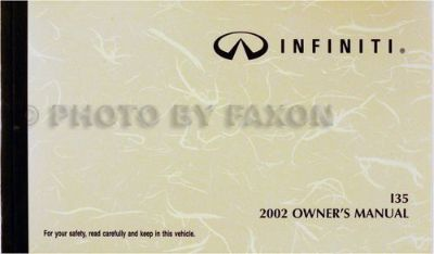 Buy 2002 Infiniti I35 Owners Manual Original OEM Owner Guide Book motorcycle in Riverside, California, United States, for US $29.00