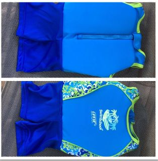 SWIM SCHOOL- Swimming/Training Suit. Zippered Back - SMALL. More pics above