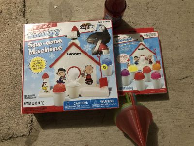 New* Snoopy snow cone maker