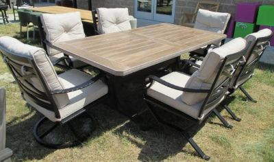 Outdoor Dining Table & 6 Chairs - Merch Mart Sample