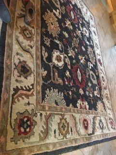 Wool area rug,