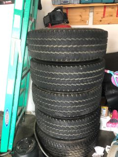 5 Toyota rims and tires