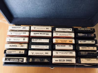 8 Track Tapes with Case
