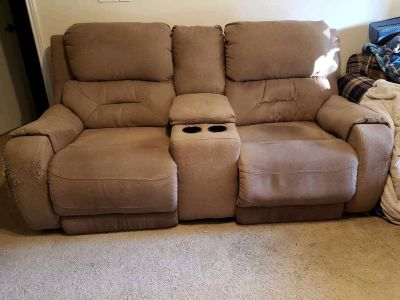 Recliner Loveseat with console and cup holders