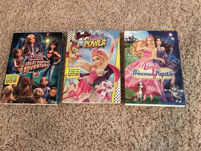 3 Barbie DVDs, all w/sleeves, excellent condition