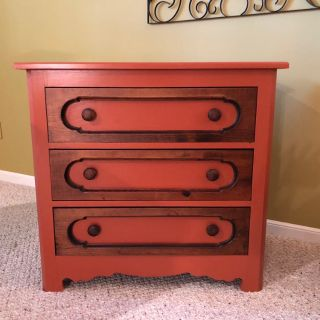 Stylish Rustic Solid Wood Chest of Drawers
