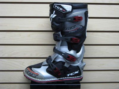 Buy TCX Pro2 Offroad Dirt Bike Mx Motorcycle Riding Boots Silver Size 10 motorcycle in Lehi, Utah, US, for US $179.99