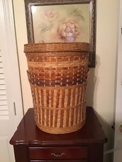 Wicker hamper / basket with lid. 17 tall. Pick up at Target in McCalla on Thursday s 5:15 - 6:00