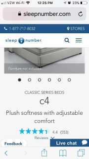 Sleep number bed king size